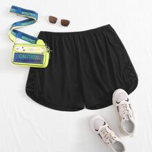 Plus Criss Cross Side Track Shorts