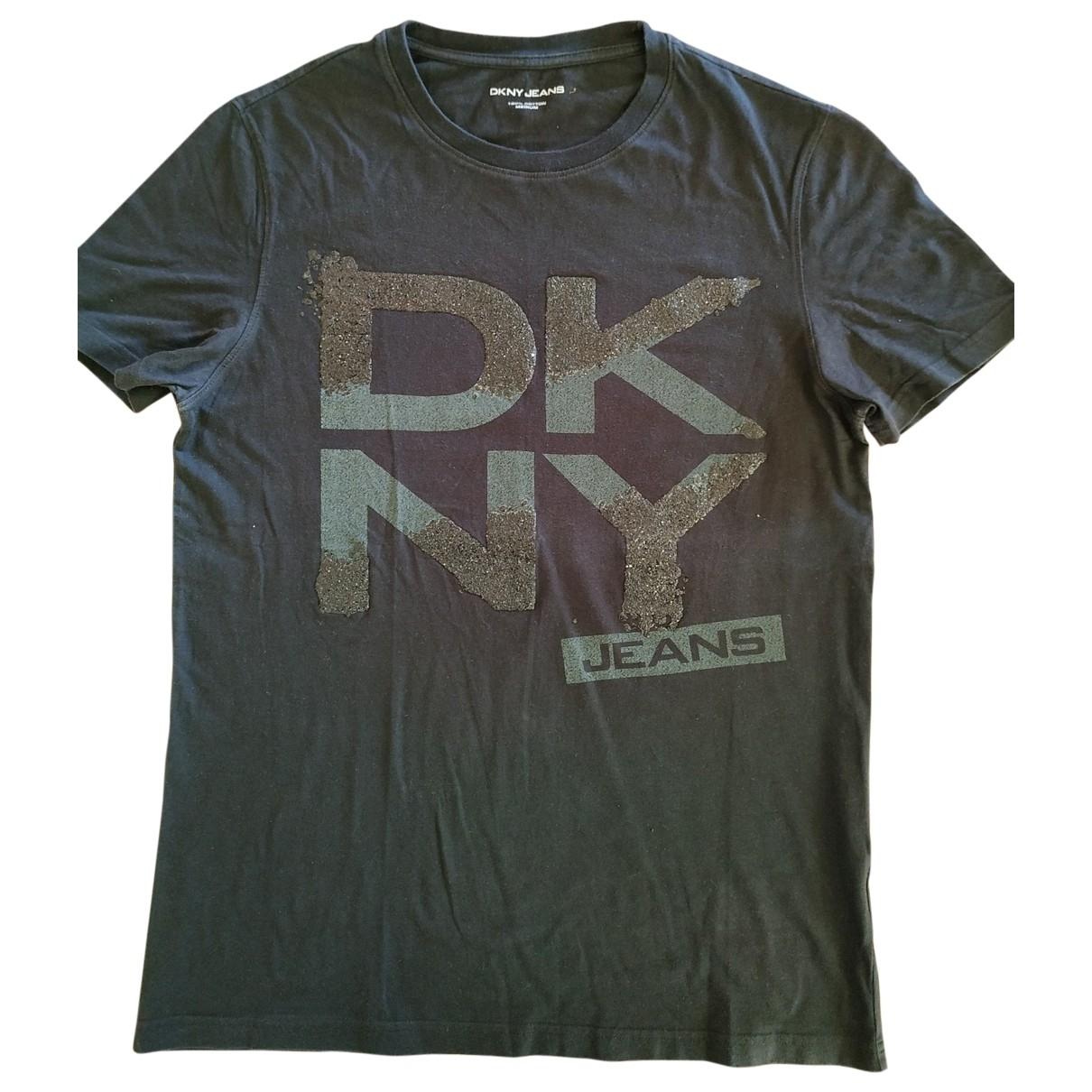 Dkny \N Black Cotton T-shirts for Men M International