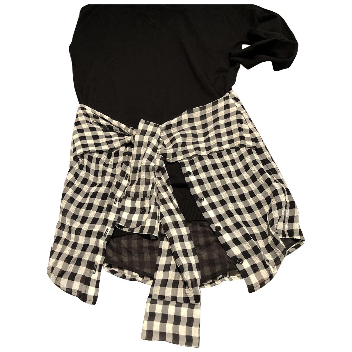 Moschino \N Kleid in  Schwarz Viskose