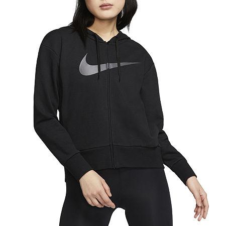 Nike Knit Midweight Swoosh Fleece Jacket, Large , Black