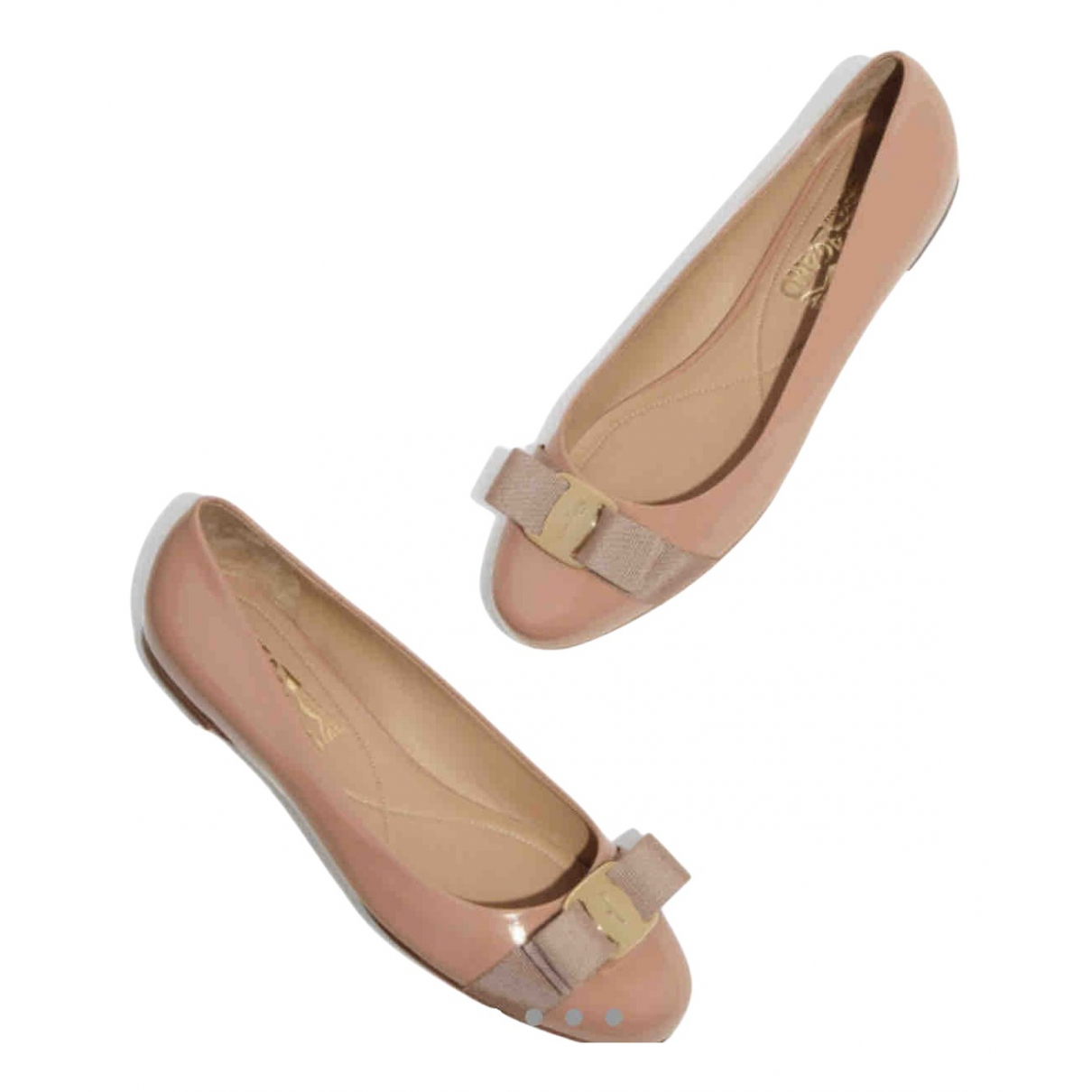 Salvatore Ferragamo Vara Pink Leather Ballet flats for Women 36 EU