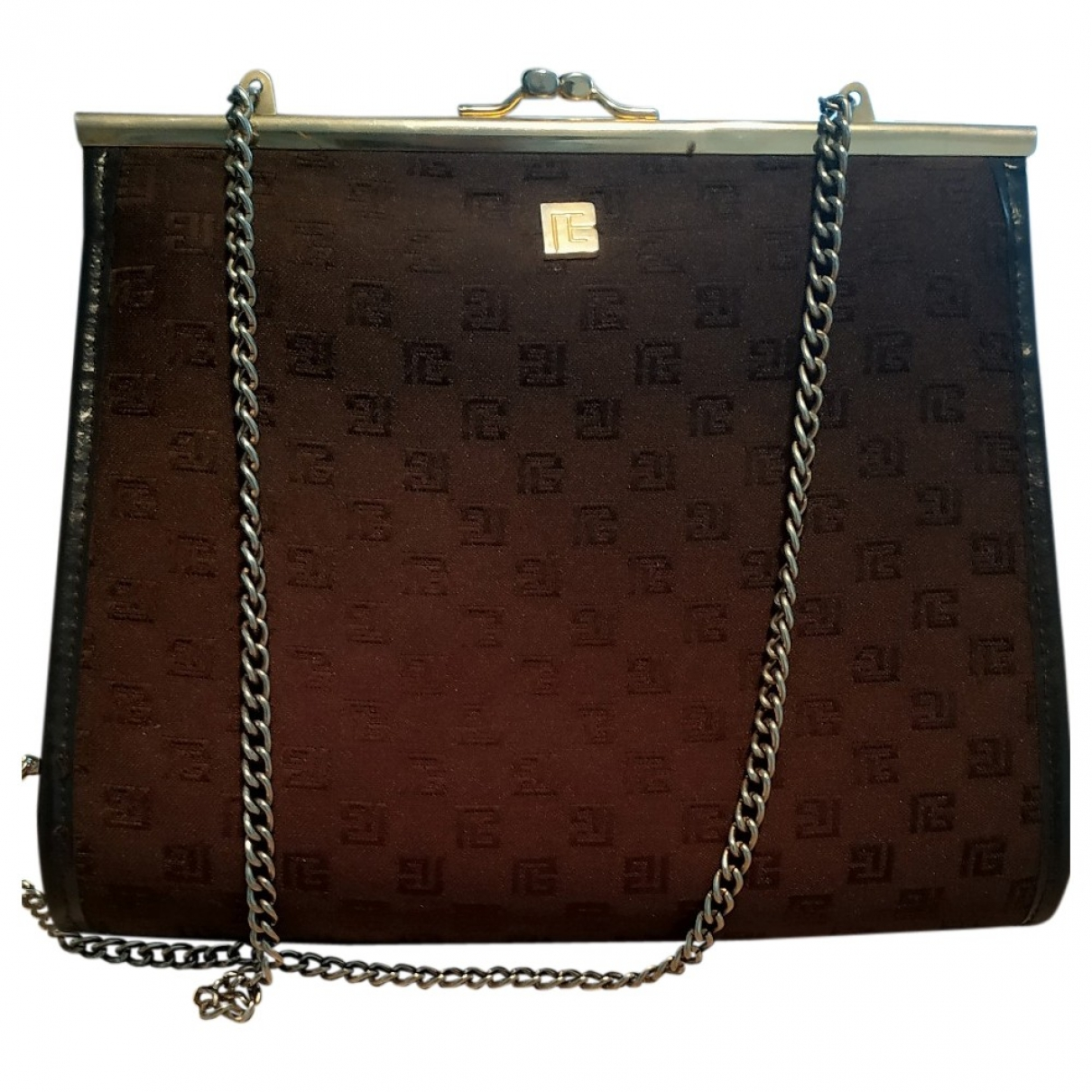Pierre Balmain \N Brown Cloth handbag for Women \N