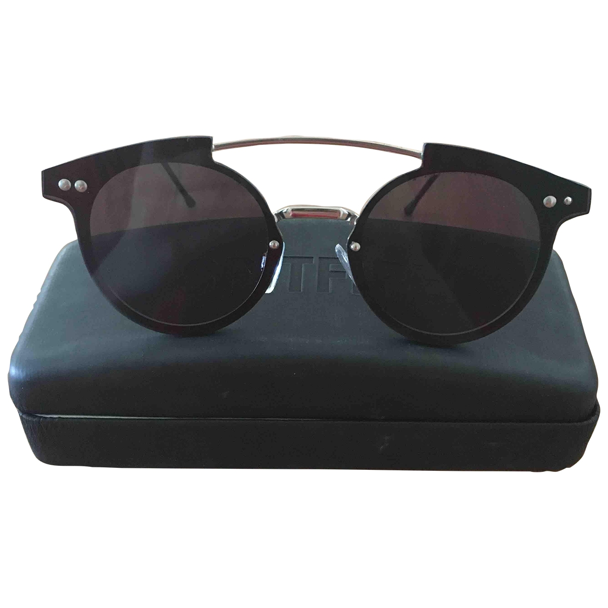 Non Signé / Unsigned \N Black Metal Sunglasses for Women \N