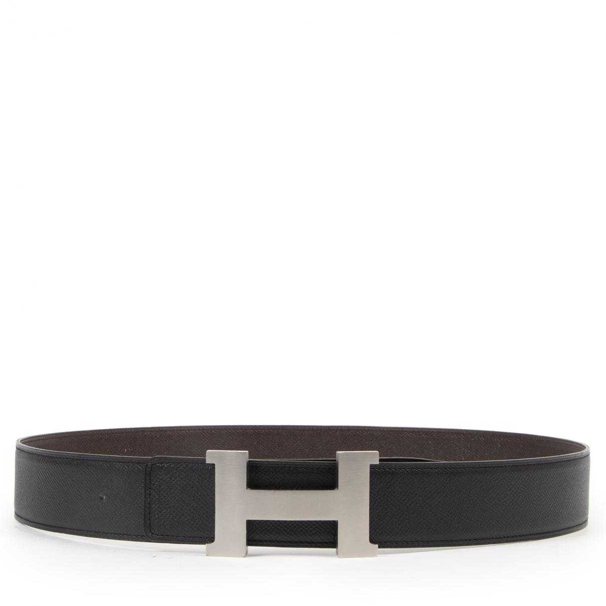 Hermès H Black Leather belt for Women 95 cm