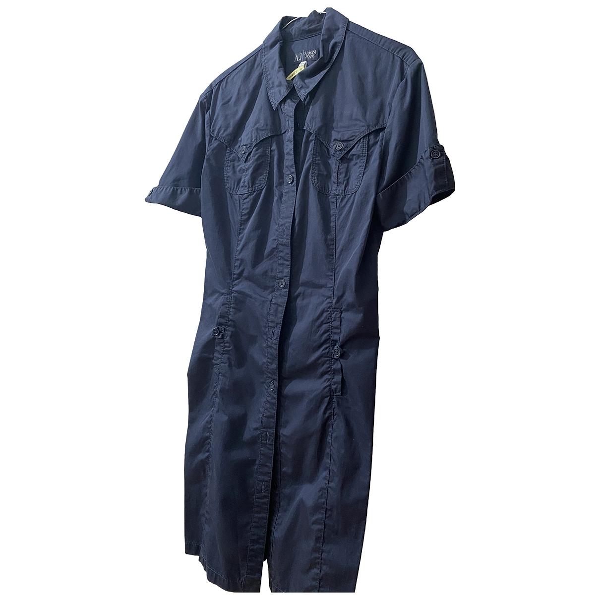 Armani Jeans \N Kleid in  Marine Baumwolle