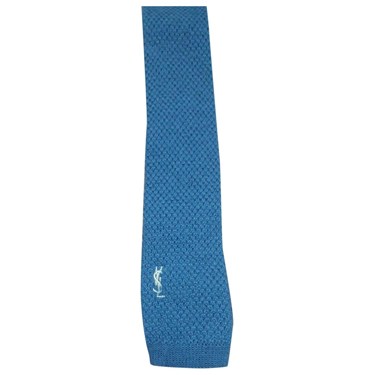 Yves Saint Laurent \N Blue Wool Ties for Men \N