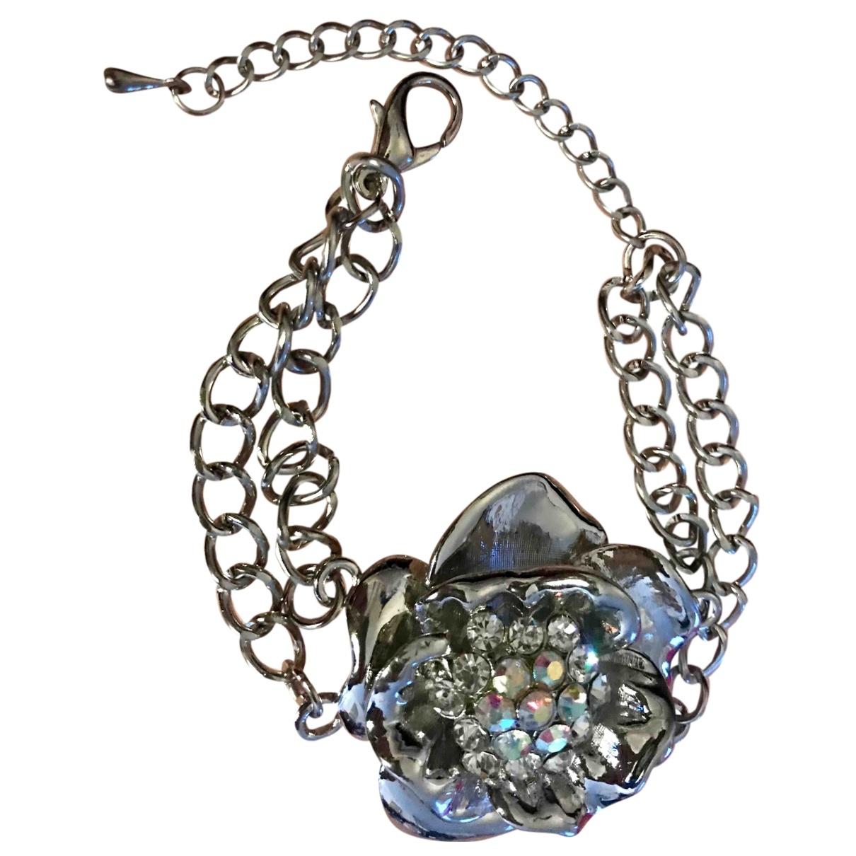 - Bracelet Motifs Floraux pour femme en cristal - argente
