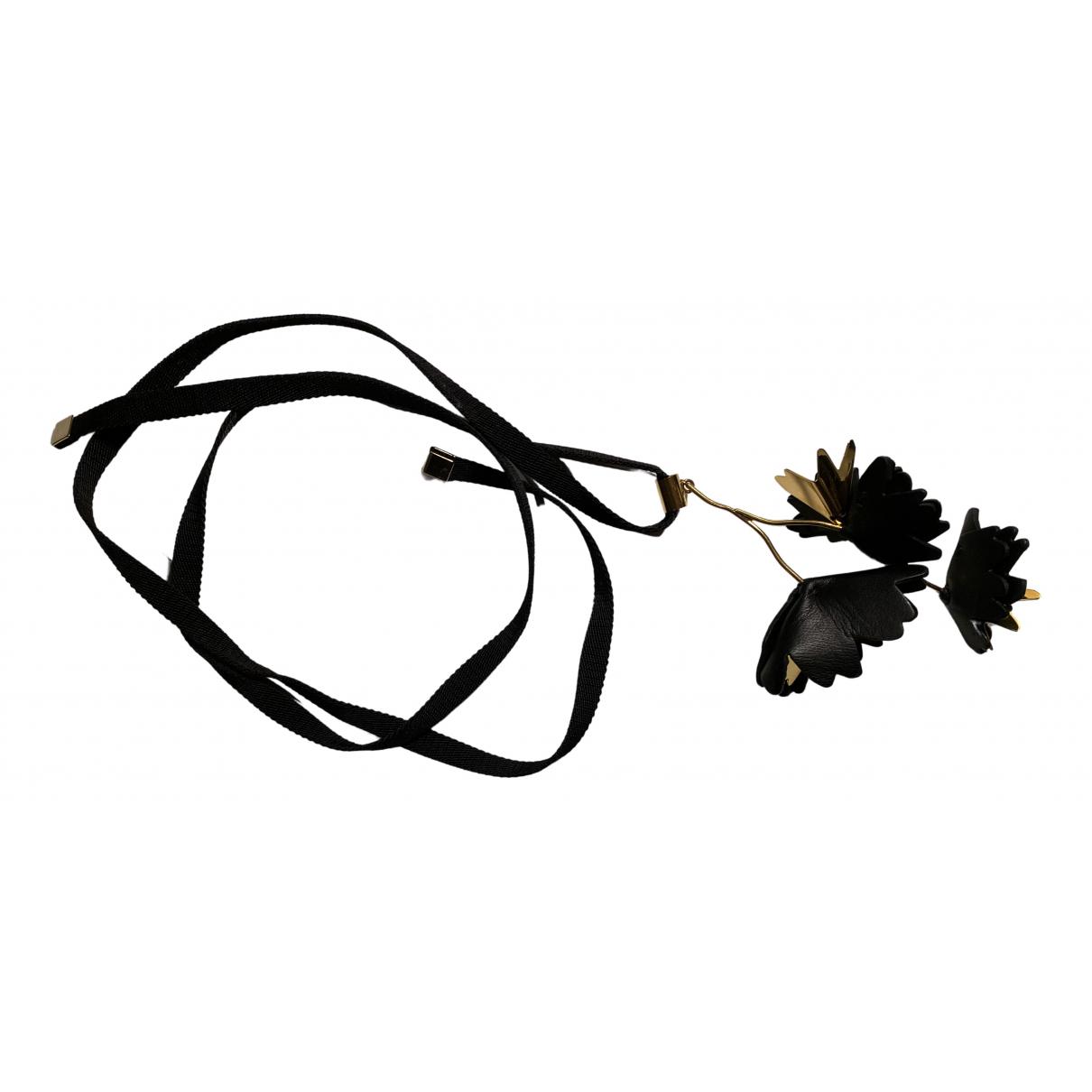 Marni - Collier   pour femme en cuir - noir