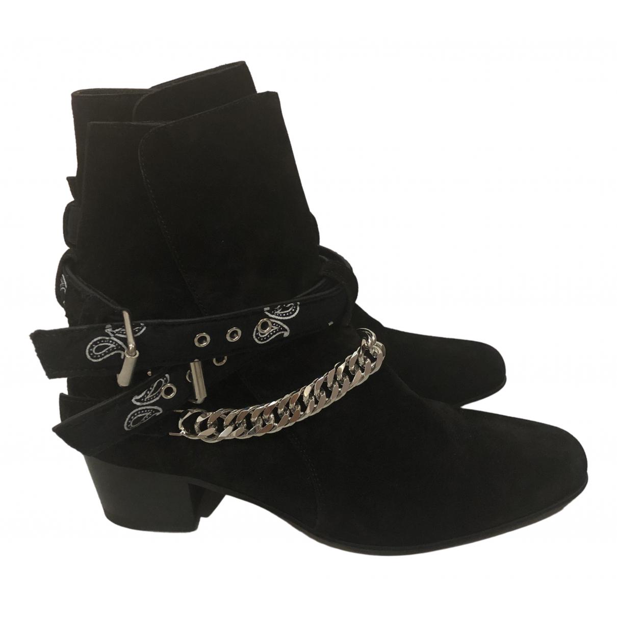 Amiri - Boots   pour femme en suede - noir
