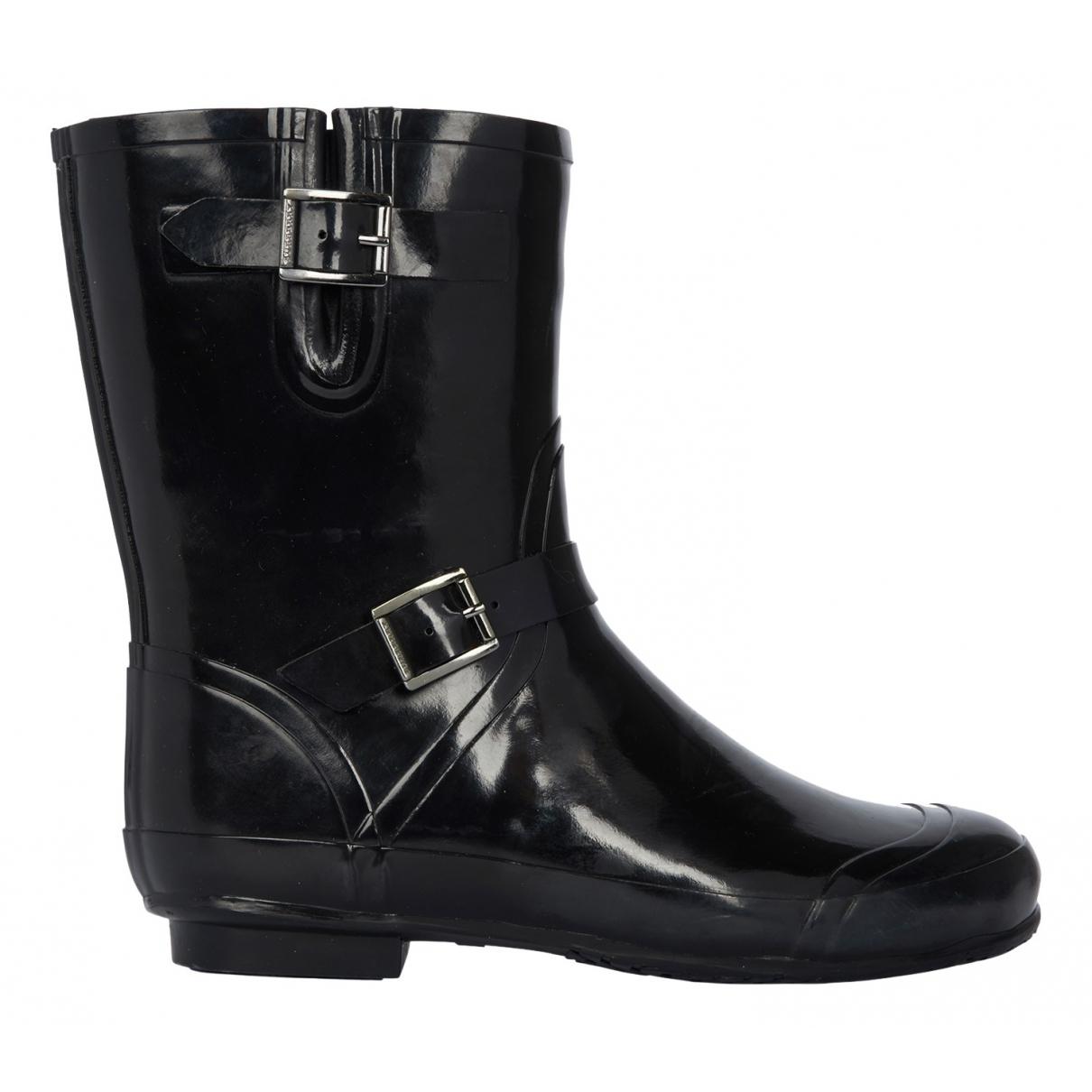 Burberry - Boots   pour femme en caoutchouc - noir