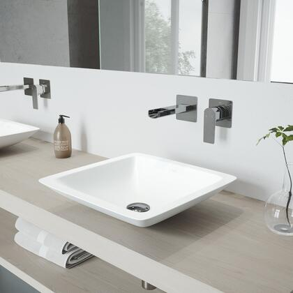 VGT975 Begonia Matte Stone Vessel Bathroom Sink Set With Atticus Wall Mount Faucet In