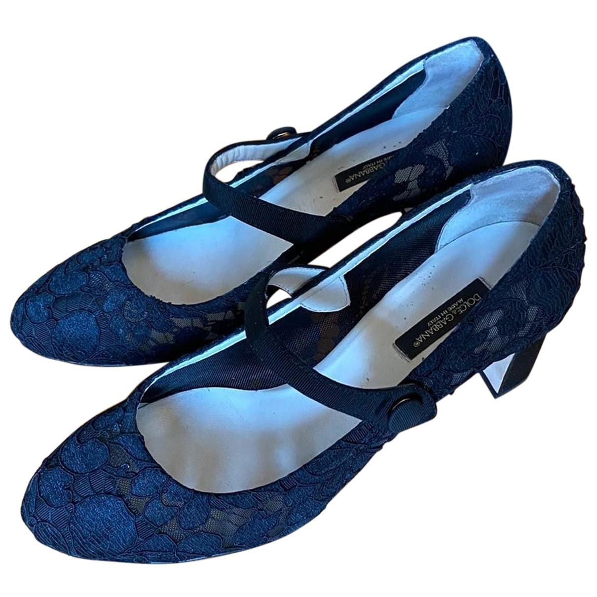 Dolce & Gabbana N Black Cloth Heels for Women 37.5 EU