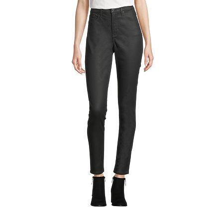 a.n.a Womens High Rise Coated Skinny Fit Jean, 4 , Black