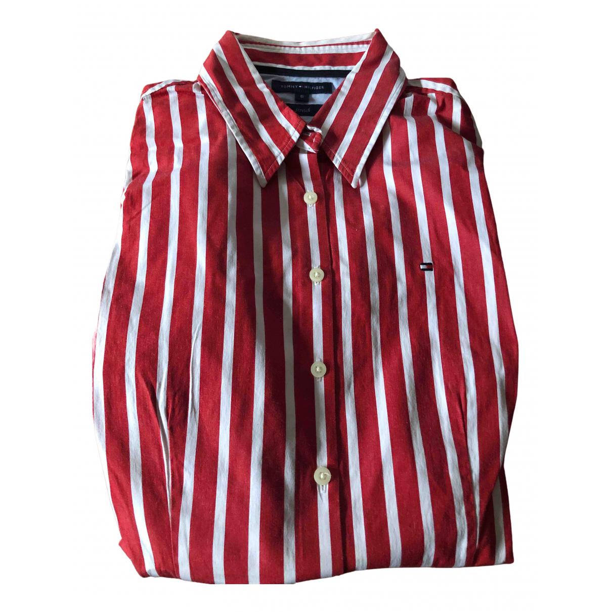 Tommy Hilfiger - Top   pour femme en coton - rouge