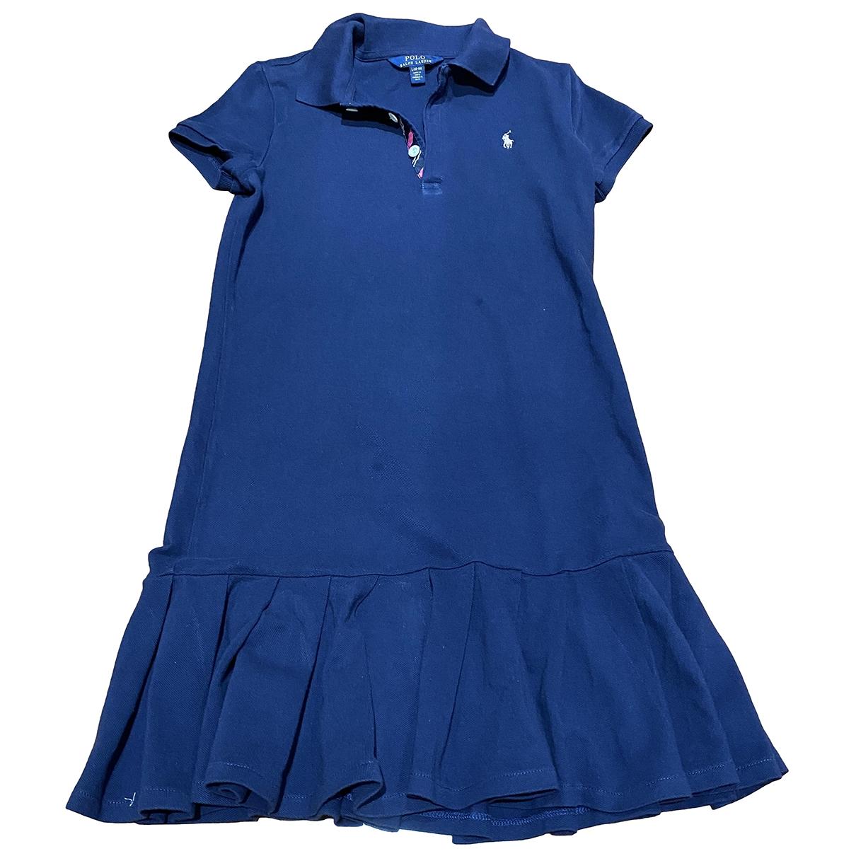 Polo Ralph Lauren \N Blue Cotton dress for Kids 12 years - XS UK