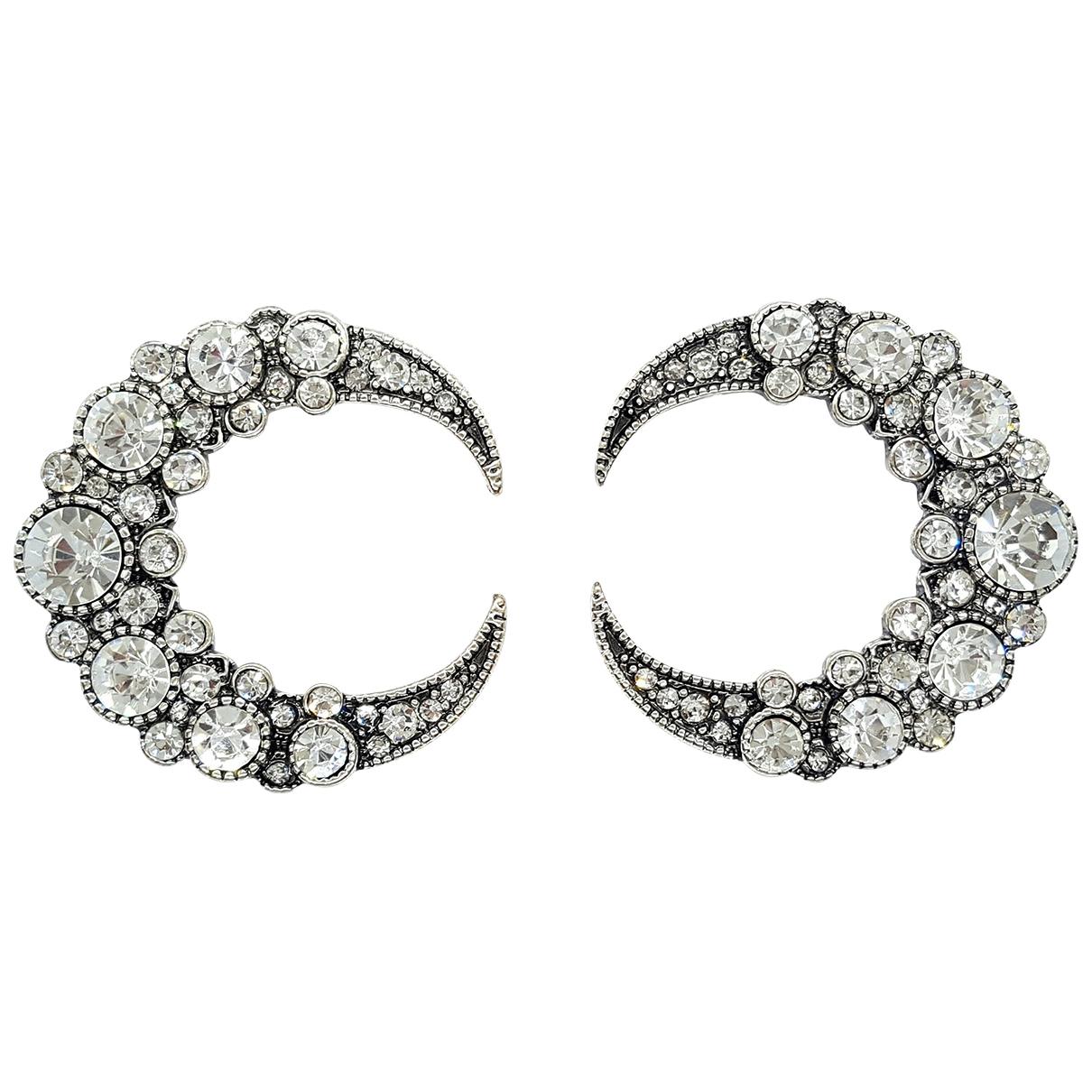 Non Signé / Unsigned Motifs Etoiles Silver Metal Earrings for Women \N