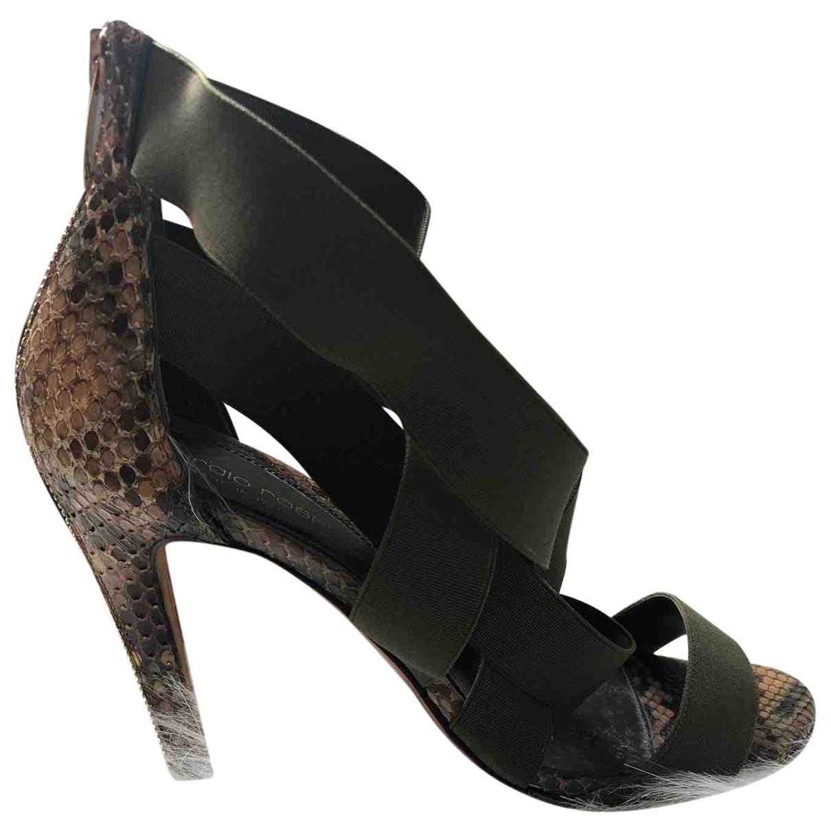 Sandalias de Piton Sergio Rossi