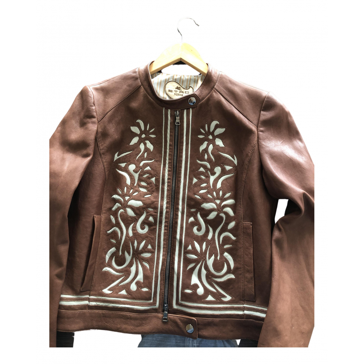 Etro - Veste   pour femme en cuir - marron