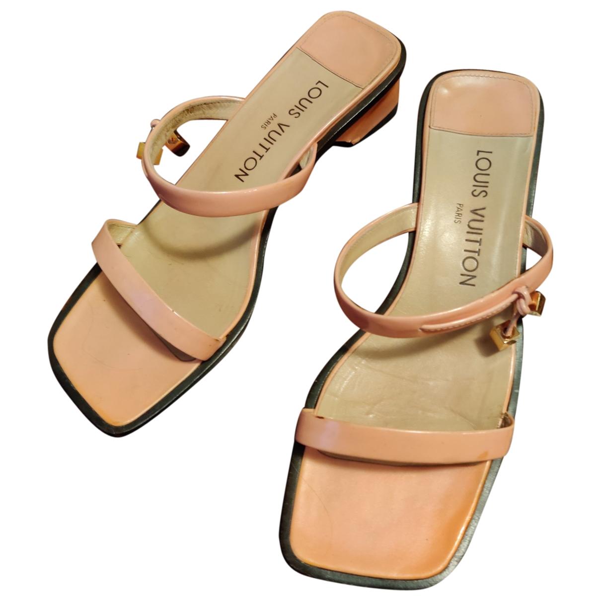 Louis Vuitton - Sandales   pour femme en cuir - rose
