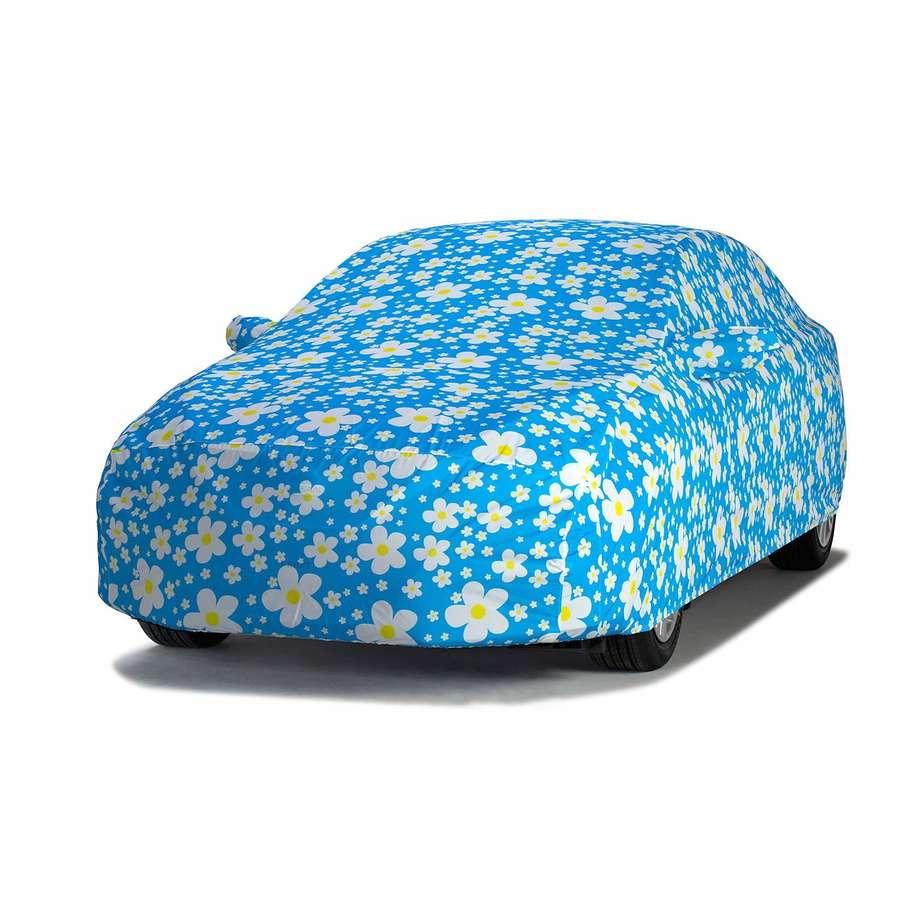 Covercraft C17618KL Grafix Series Custom Car Cover Daisy Blue Volkswagen Beetle 2013-2019