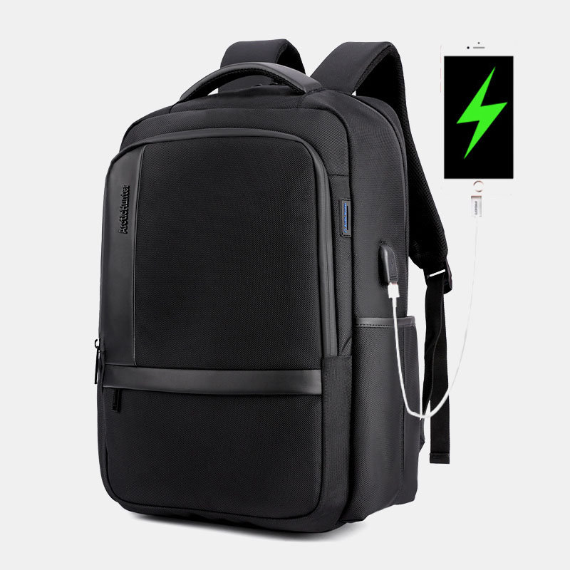 Anti-theft Backpack With USB Charging Port Casual Travel Bag For Men