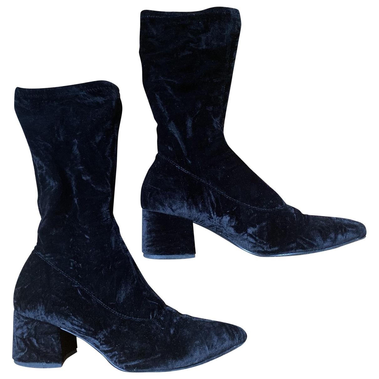 Vagabond - Bottes   pour femme en velours - noir
