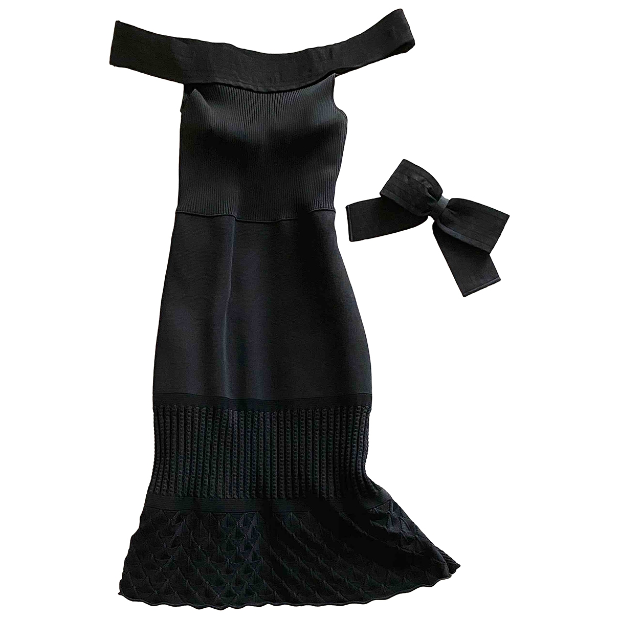 Chanel \N Kleid in  Schwarz Synthetik