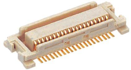 Molex , SlimStack, 53748, 20 Way, 2 Row, Straight PCB Header (5)