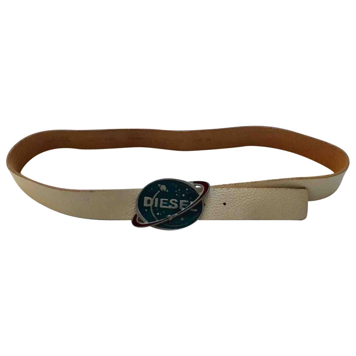 Diesel \N Leather belt for Men 95 cm