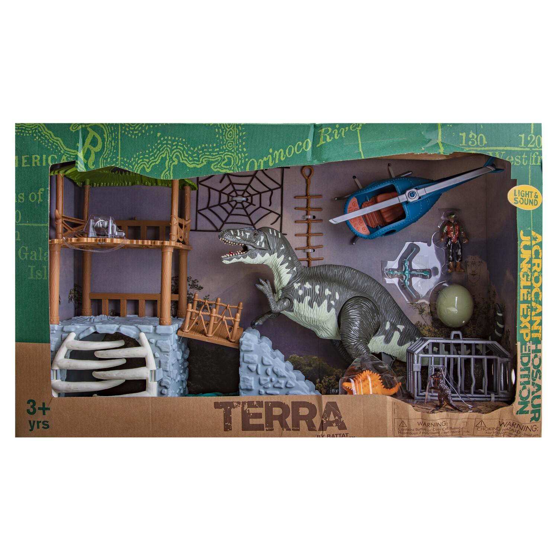 Battat Terra Jungle Expedition 13-Piece Dinosaur Playset