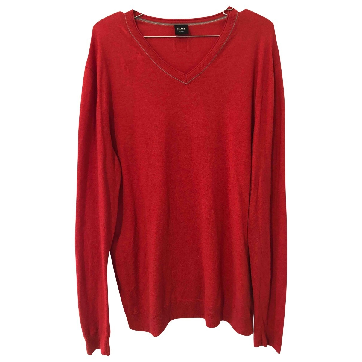 Hugo Boss \N Pullover.Westen.Sweatshirts  in  Rot Baumwolle