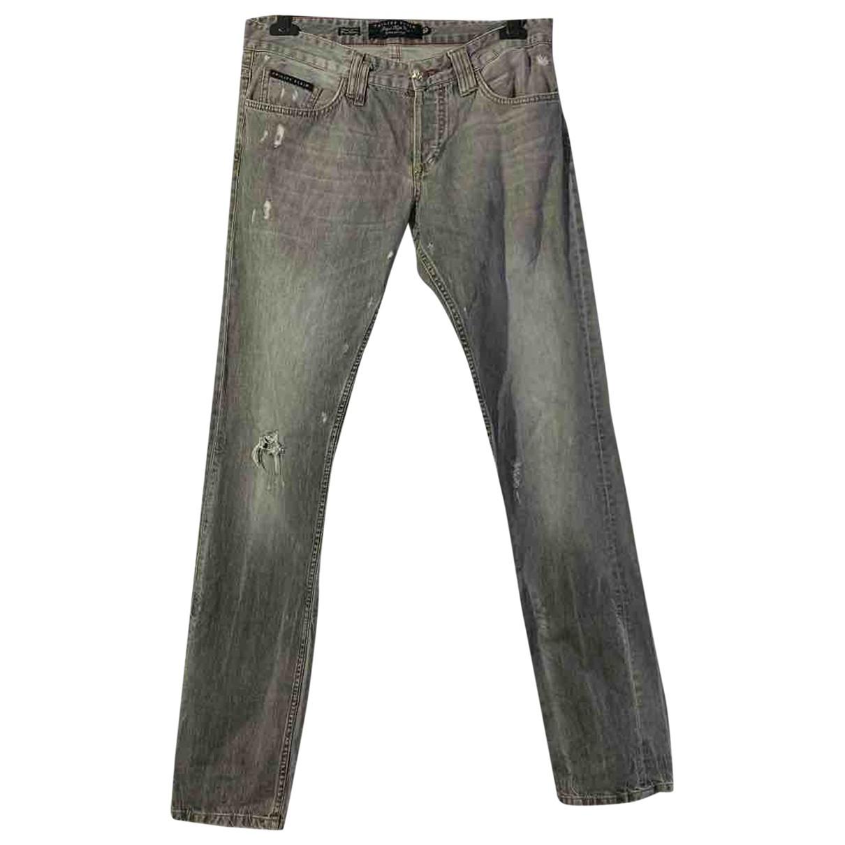 Philipp Plein \N Grey Cotton - elasthane Jeans for Men 34 US