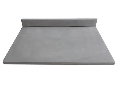 EB_NS3122LG 31-in x 22-in Concrete Counter Top with Back Splash (No Holes) - Light