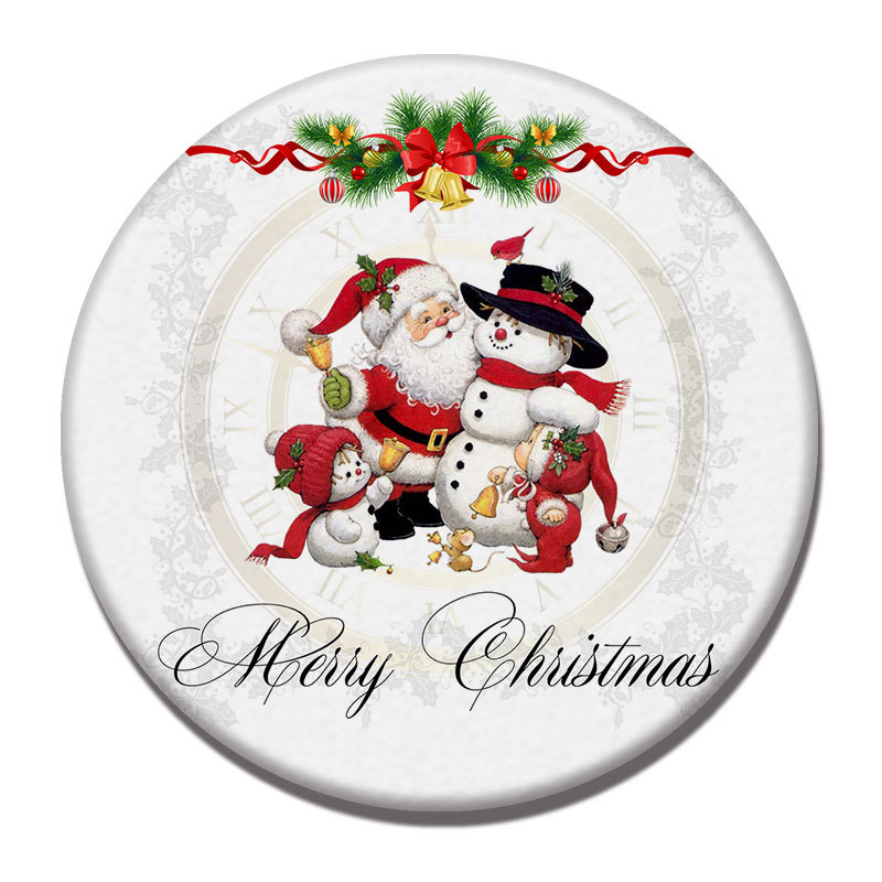 Simple and Beautiful Christmas Bergmeal Water Absorption Coaster