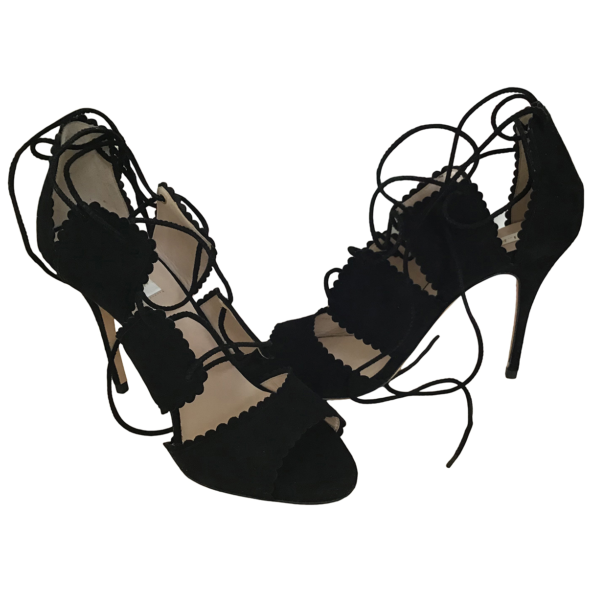 Bionda Castana \N Black Suede Heels for Women 38.5 EU