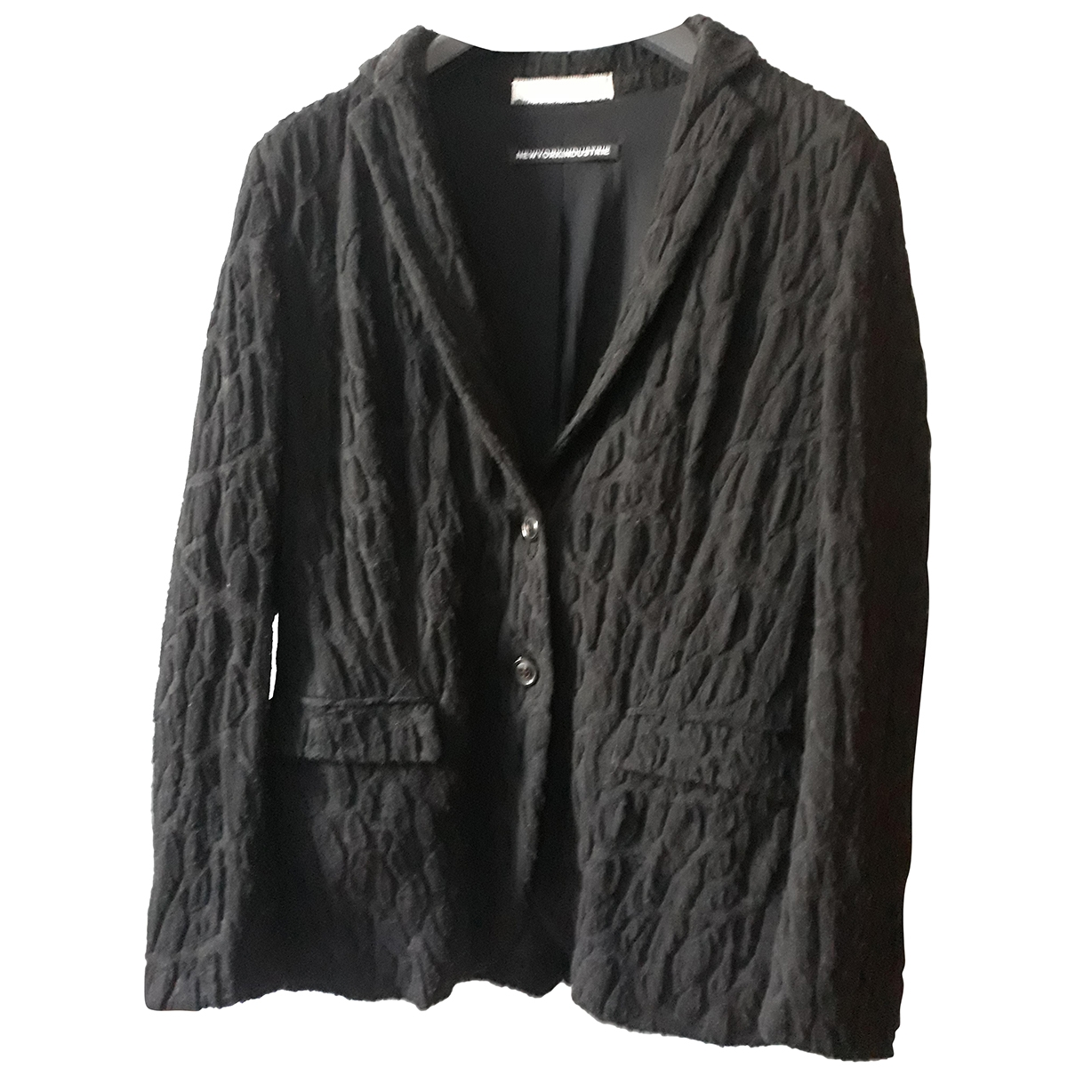 Non Signé / Unsigned \N Black Wool jacket for Women 46 IT