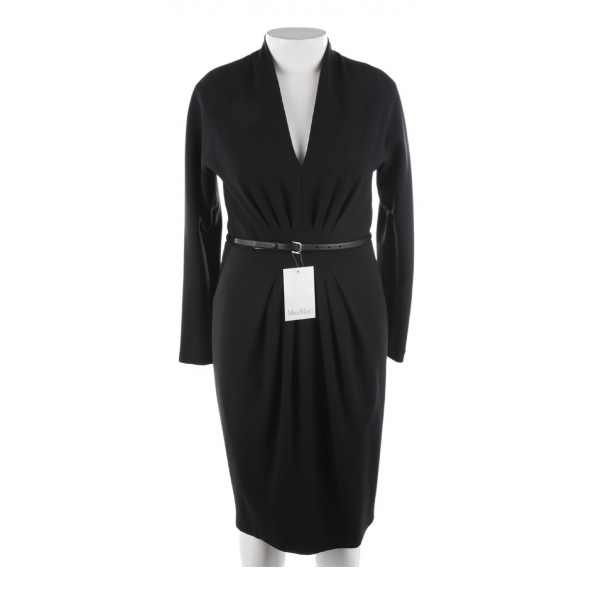 Max Mara \N Black Silk dress for Women 44 FR