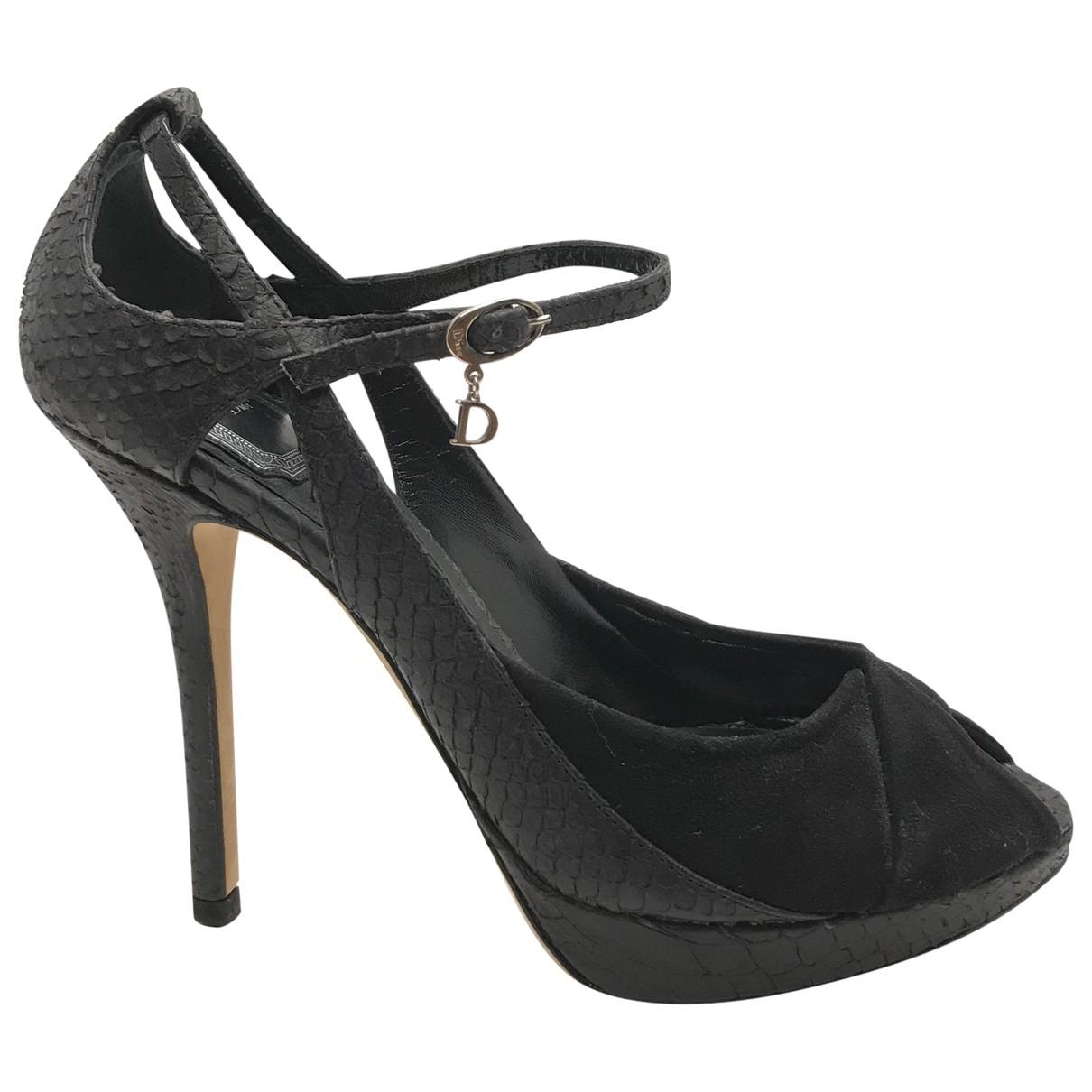 Dior - Escarpins   pour femme en python - noir