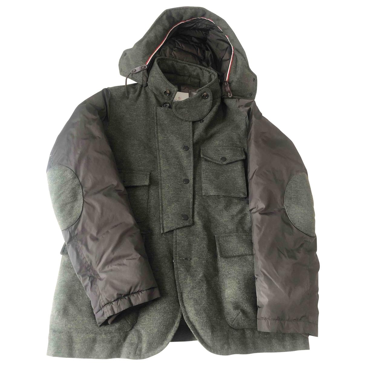 Moncler - Manteau Hood pour homme en laine - vert