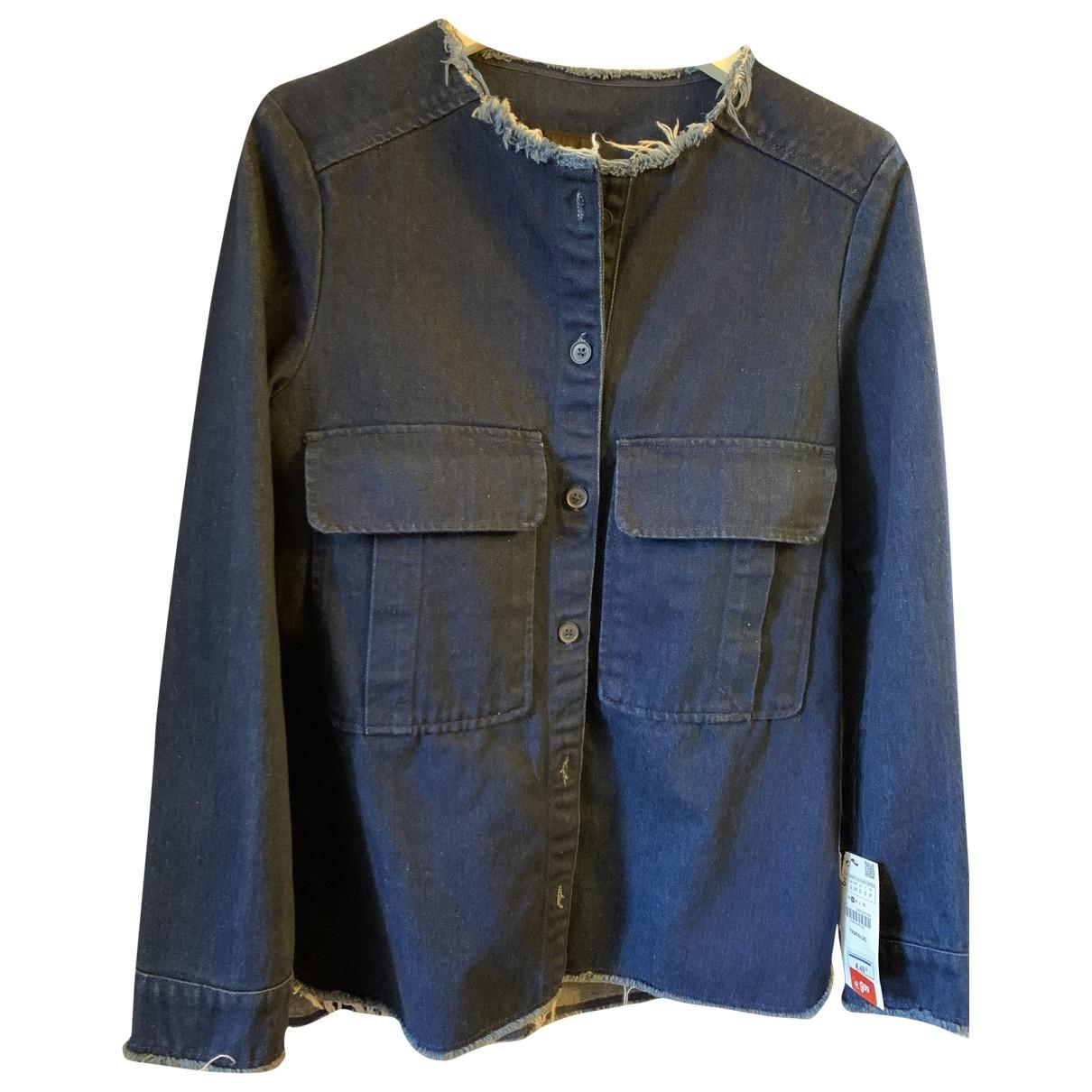 Zara \N Jacke in  Blau Denim - Jeans
