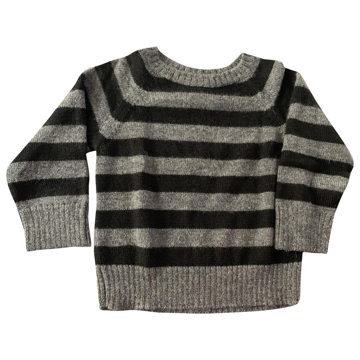 Bonpoint \N Pullover, StrickJacke in  Anthrazit Wolle