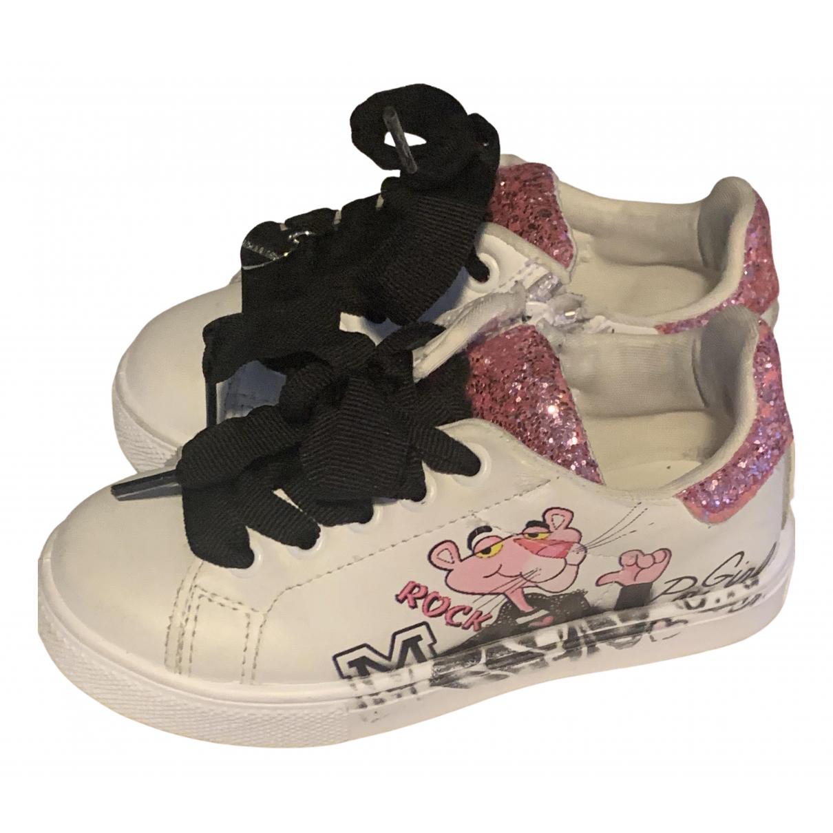 Monnalisa \N Sneakers in  Weiss Leder