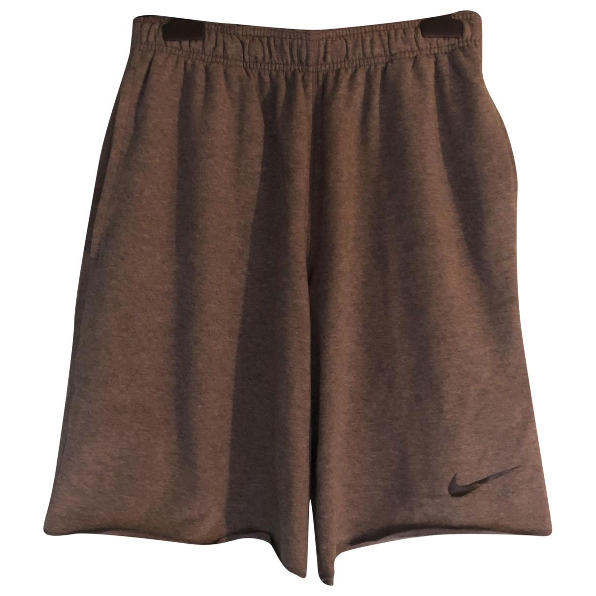 Nike \N Shorts in  Grau Baumwolle