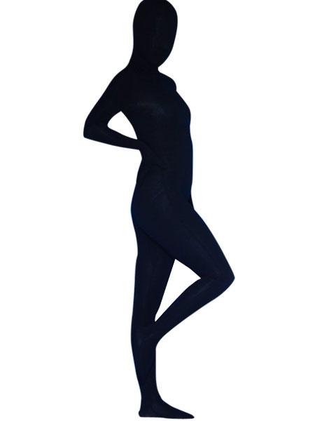 Milanoo Morph Suit Black Lycra Spandex Fabric Zentai Suit Unisex Full Body Suit