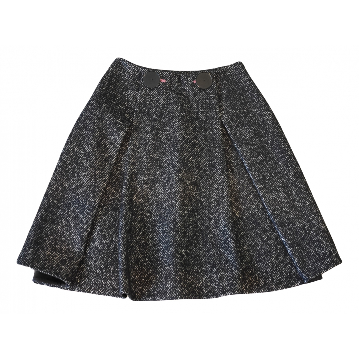 Paul Smith N Grey Wool skirt for Women 40 IT