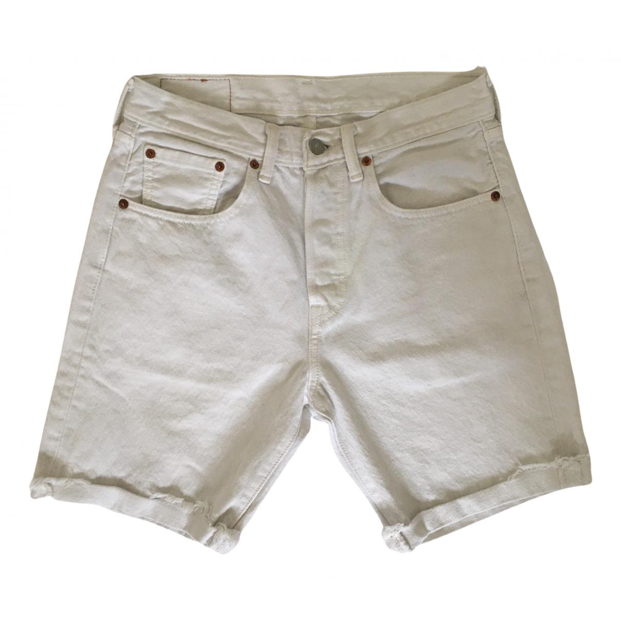 Levis \N Shorts in  Weiss Baumwolle