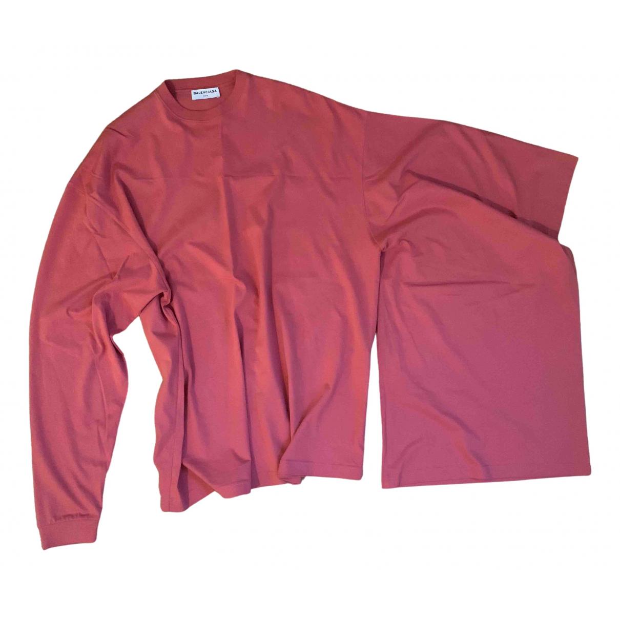 Balenciaga \N Top in  Rosa Baumwolle