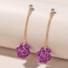 Flower Chain Drop Earrings