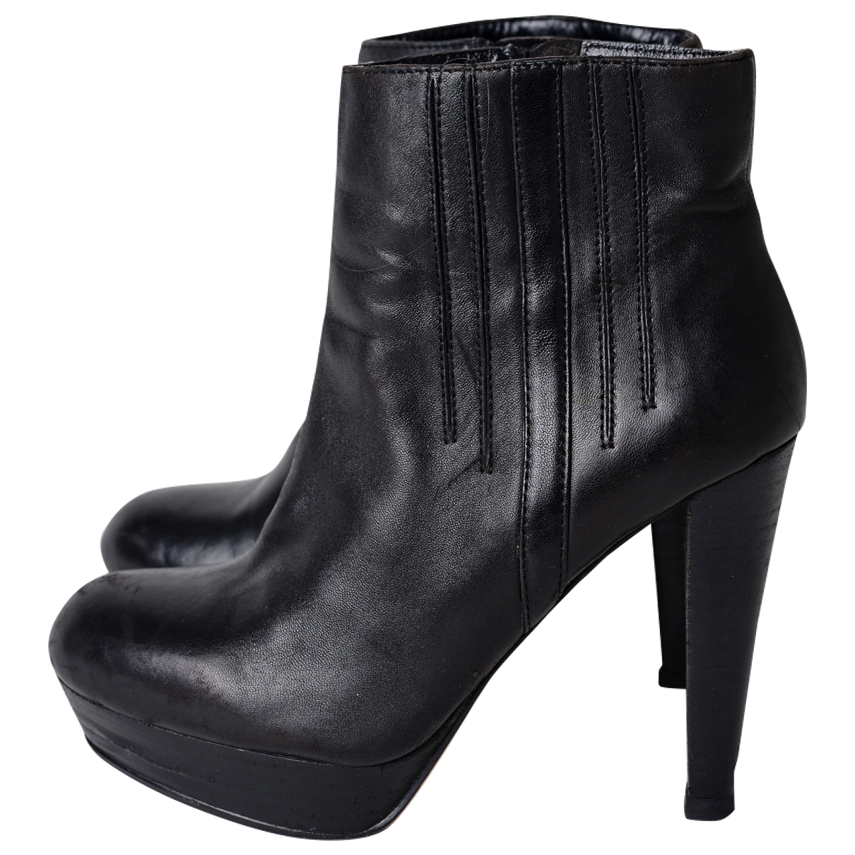 Bcbg Max Azria - Bottes   pour femme en cuir - noir