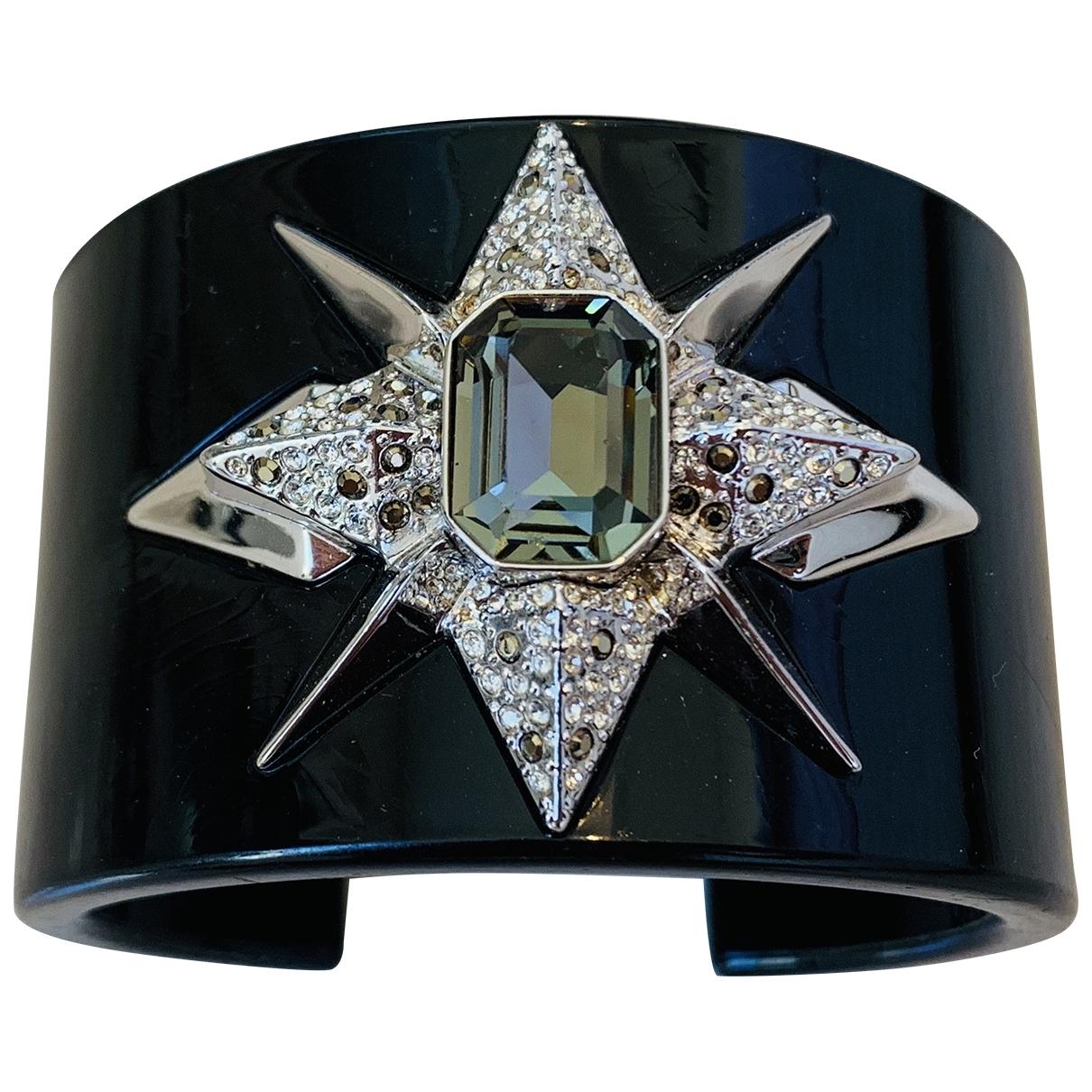 Swarovski \N Armband in  Schwarz Kunststoff